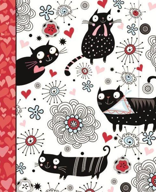 Classic journal doodle cat1